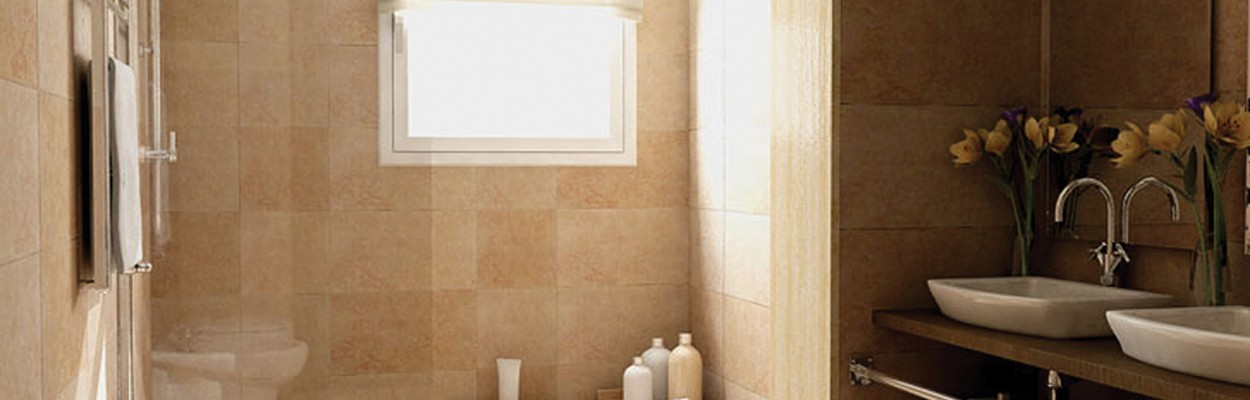 glass tile bathrooms