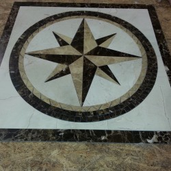 Split Polaris Star Square Medallion